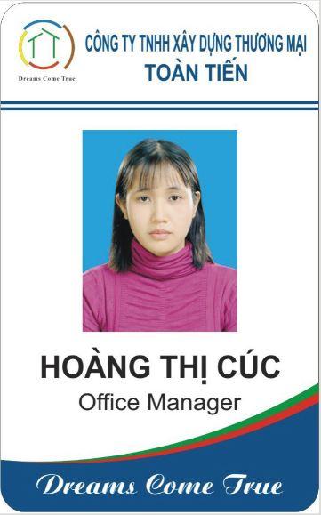 Xưởng in thẻ nhựa nhân viên Gò Vấp HCM