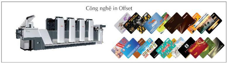 Xưởng in thẻ nhựa PVC sử dụng công nghệ in offset