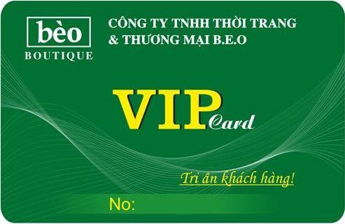 In thẻ nhựa VIP giá rẻ HCM