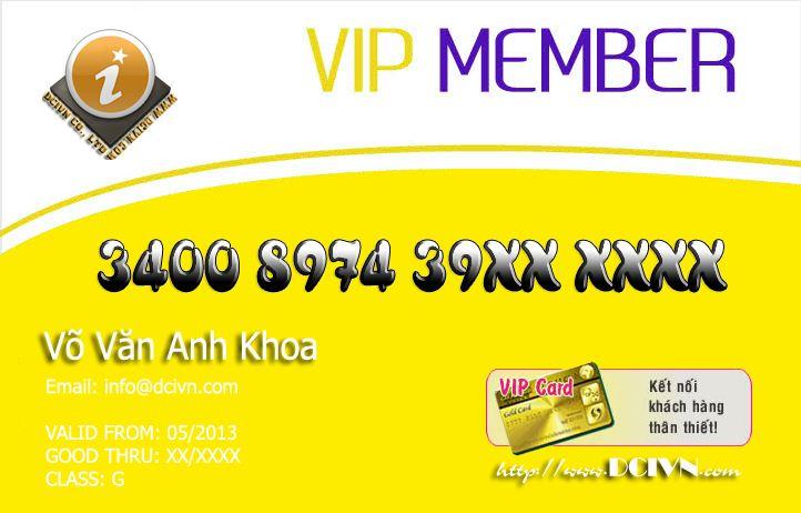 In thẻ VIP bằng nhựa giá rẻ