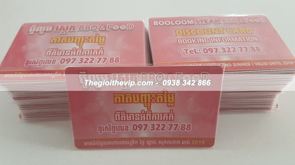 In thẻ VIP nhà hàng ẩm thực Thái
